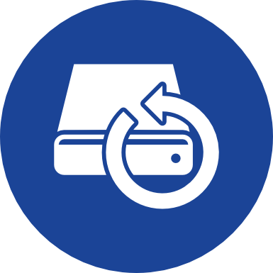 Icon zum Backup-Bereich