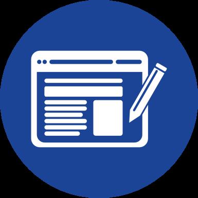 Icon zur Erstellung von Homepages